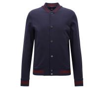 Slim-Fit-College-Jacke aus Baumwolle