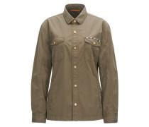 Regular-Fit Hemd aus Baumwolle mit Stickerei