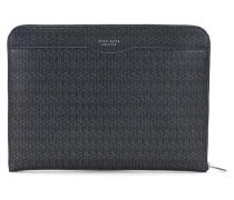 Laptop-Schutzhülle aus Leder mit geometrischem Print