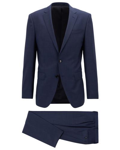 Slim-Fit Anzug aus dezent gemusterter Schurwolle