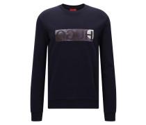 Relaxed-Fit Pullover aus Baumwolle mit spiegelverkehrtem Logo
