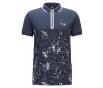 Slim-Fit Poloshirt aus Baumwoll-Mix