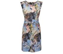 Bedrucktes Slim-Fit Kleid aus Material-Mix