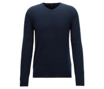 V-neck sweater in fine Italian cotton