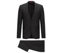 Extra-Slim-Fit-Anzug aus Schurwolle mit Strukturmuster