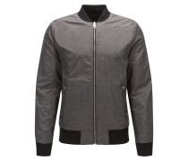 Zweiseitige Relaxed-Fit Bomberjacke aus Material-Mix