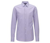 Gestreiftes Regular-Fit Hemd aus Baumwolle