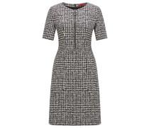 Regular-Fit Kleid aus elastischem Material-Mix mit Baumwolle