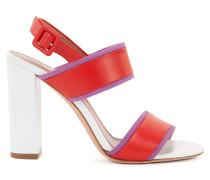 Sandalen aus italienischem Leder mit Blockabsatz