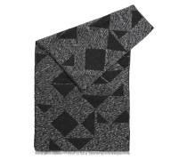 Schal aus Woll-Mix mit Modal, Mohair und Paillettengarn