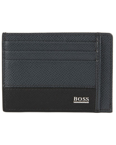Signature Collection card case in printed palmellato leather