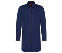 Slim-Fit Mantel mit Zwei-Wege-Reißverschluss