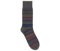 Socken aus merzerisiertem Baumwoll-Mix mit Querstreifen