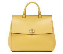 BOSS Bespoke Soft Bag aus Leder mit typischem Detail in Manschettenknopf-Optik