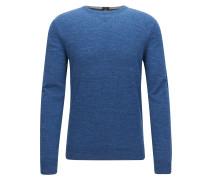 Slim-Fit Pullover aus gestricktem Baumwoll-Jersey