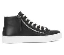Hightop Sneakers aus italienischem Leder