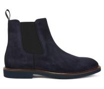 Chelsea Boots aus Veloursleder mit Krepp-Sohle