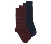 Mittelhohe Socken aus elastischer Baumwolle im Zweier-Pack