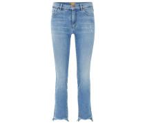 Slim-Fit Jeans in Cropped-Länge aus Stretch Denim