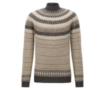 Slim-Fit Norweger-Pullover aus Schurwoll-Mix mit Alpaka