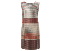 Regular-Fit Etuikleid aus Woll-Mix mit Baumwolle mit Hahnentritt-Muster