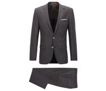 Slim-Fit Anzug aus Schurwolle mit Panamabindung