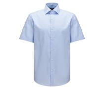 Regular-Fit Kurzarm-Hemd aus Baumwolle mit Karo-Struktur