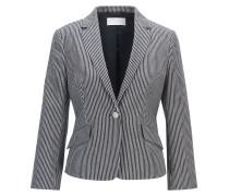 Regular-fit tailored jacket in denim-stripe stretch cotton