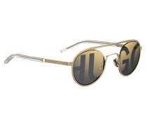 Goldfarbene Unisex-Sonnenbrille