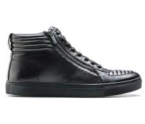 Hightop Sneakers aus Leder mit Absteppungen