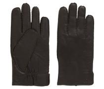 Geraffte Handschuhe aus Nappaleder