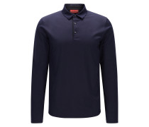 Slim-Fit Langarm-Poloshirt aus Jersey