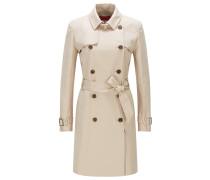Regular-Fit Trenchcoat aus Stretch-Baumwolle