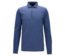 Slim-Fit Longsleeve Poloshirt aus Baumwolle
