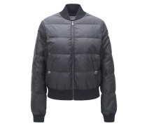 Regular-Fit-Blouson aus Material-Mix