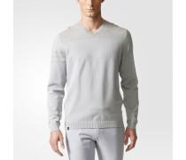 3-Streifen V-neck Pullover