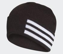 3-Streifen Wollmütze