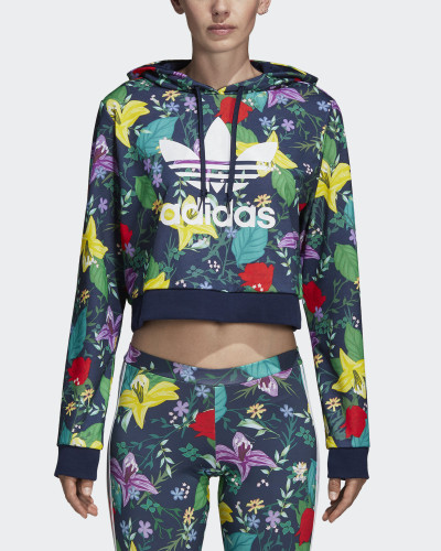 Cropped Graphic Hoodie