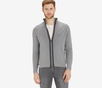 Cardigan, structured, zipper