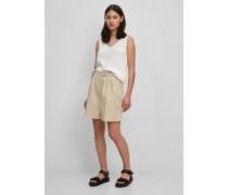 Bundfalten-Shorts