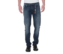 Slim-Fit Jeans mit Anhänger  // Chad Marina Dark Blue