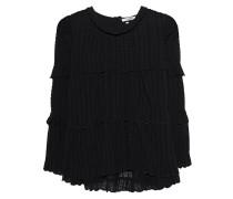 Baumwoll-Bluse mit Rüschen  // Ykaria Black