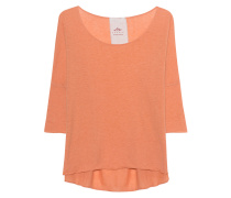 Baumwoll-Kaschmir-Top  // Shirt Lax 3/4 Sleeve Exposed Peach