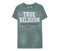 Baumwoll-T-Shirt mit Print  // Army Backside Pine