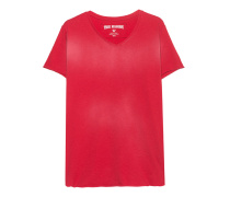 T-Shirt mit Rückenprint  // Vneck Hollywood True Red