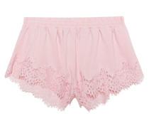 Baumwoll-Shorts mit Spitze  // Lace Trim Sleepwear Silver Pink