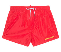 Badehose im cleanen Look  // Surf Edition Red
