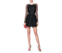 Tailliertes Mini-Kleid  // Lace Cocktail Black