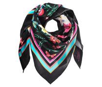 Seidenschal mit floralem Muster  // Floral Silk Black