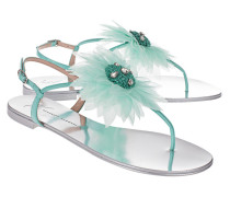 Sandalen mit Blumen-Detail  // Rock 10 Infradito Vernice Haway Mint